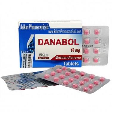 Danabol Данабол Метандиенон Метан 10 мг, 100 таблеток, Balkan Pharmaceuticals в Астане