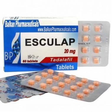 Esculap Тадалафил Эскулап 20 мг, 20 таблеток, Balkan Pharmaceuticals в Астане