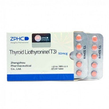 Thyroid Liothyronine T3 Трийодтиронин 50 мкг, 50 таблеток, ZPHC в Астане